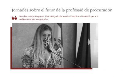 Jornades sobre el futur de la professió de procuradors.