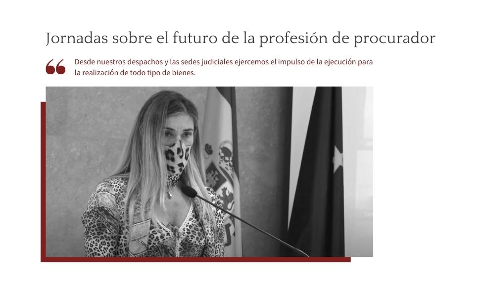 Jornadas sobre el futuro de la profesión de procuradores.